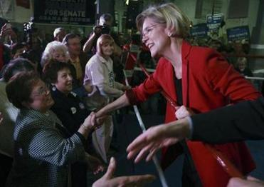 Challenger Elizabeth Warren spoke to a Ramalho's West End Gym crowd in Lowell.
