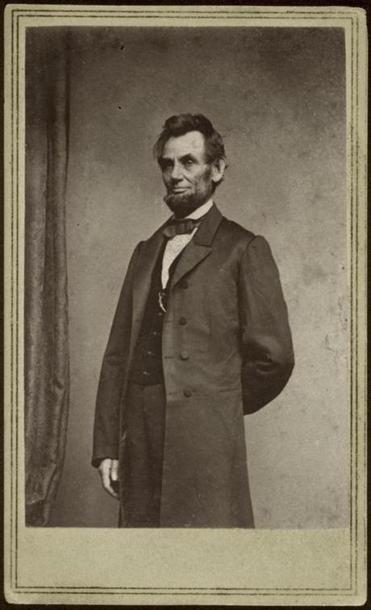 Matthew B. Brady made this portrait of President Lincoln on Jan. 8, 1864, in the middle of the Civil War.