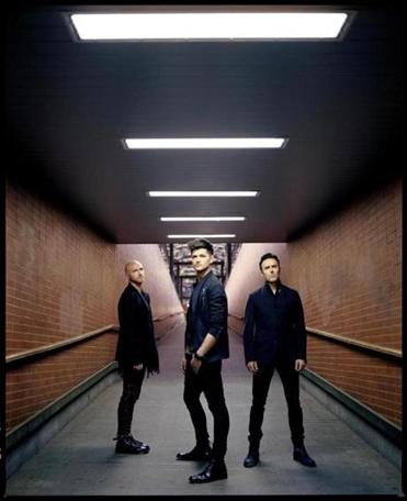 The Script is (from left) Mark Sheehan, Danny O'Donoghue, and Glen Power.