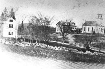 Needham Center circa 1870; the farming town sent more than 200 men to the Civil War.