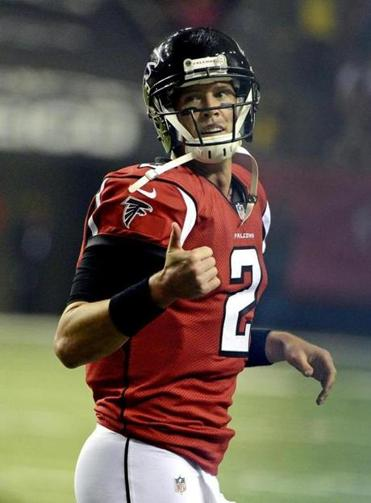 Atlanta is 15-0 when Matt Ryan throws for at least three TDs.