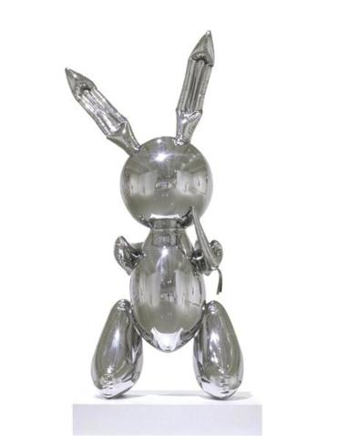"Jeff Koons's stainless steel rabbit is part of the show ""This Will Have Been."""