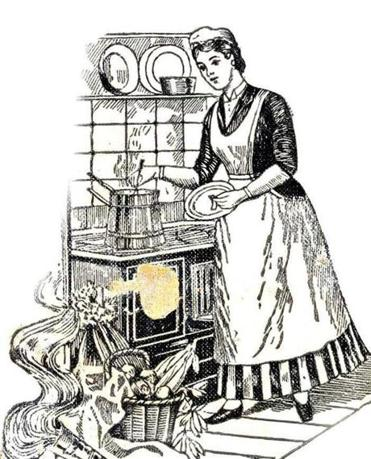 "From the cover of ""Science in the Kitchen,"" published in 1893."