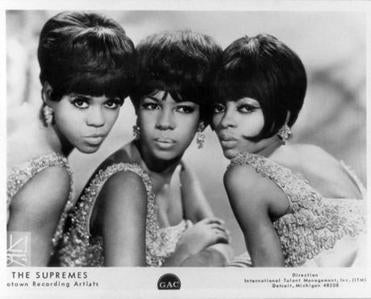 The Supremes, from left, Florence Ballard, Mary Wilson and Diana Ross.
