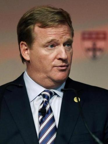 NFL commissioner Roger Goodell discussed played safety on Thursday at Harvard.