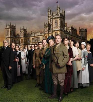 """Downton Abbey,"" starring Hugh Bonneville (front), concludes its third season Sunday."