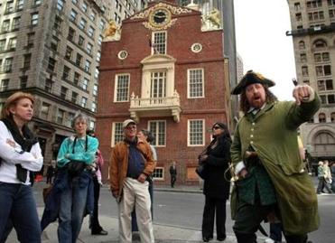 Josh Rudy from Braintree is a Freedom Trail tour guide.