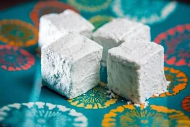 Homemade marshmallows for hot chocolate.