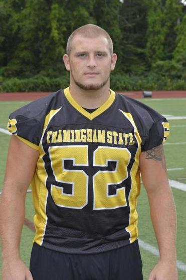 Framingham State University senior defensive lineman James Muirhead proved to be a handful all season for opposing squads, who typically resorted to double-teaming him.