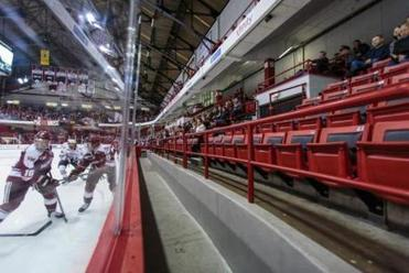 Despite a lack of crowds, Northeastern University and other hockey teams have attracted more media attention.