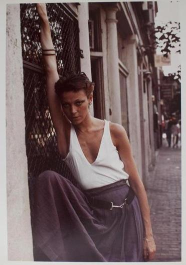 A favorite photograph of herself is this one of her on Charles Street, taken by Arbus before she left Boston for New York and pursued street fashion photography.