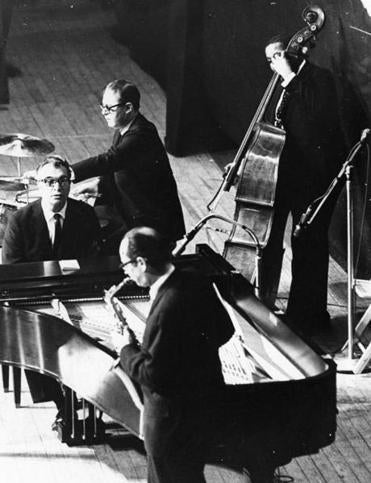 Dave Brubeck's quartet, seen performing in Boston in 1967, looked like a Phi Beta Kappa chapter meeting on the stage.