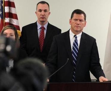 Middlesex District Attorney Gerard T. Leone Jr. (right) described the charges against John Burbine as the worst child case of its kind he had seen.