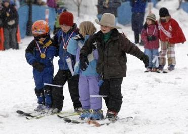 Children took part in the Winter Carnival.