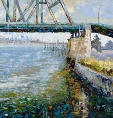 "An oil painting, ""Blue Water,"" by Lennie Mullaney, won the cover spot on the 2013 Artists of the Seacoast calendar."