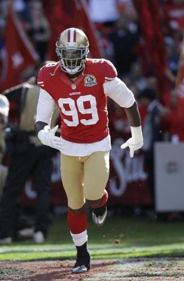 Aldon Smith will be focused on stopping Tom Brady on Sunday night.
