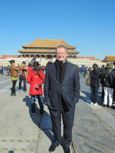 MFA director Malcolm Rogers in China.