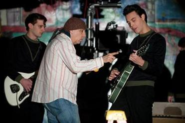 Will Brill, Steve Van Zandt, and Jack Huston on the set.