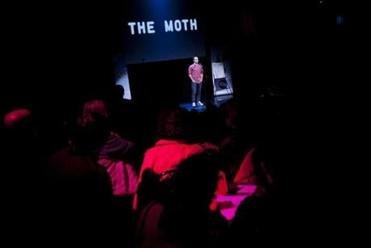 Mike McDuffee performed during the Moth StorySLAM.