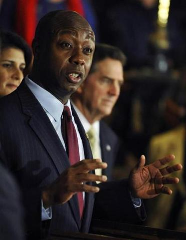 Congressman Tim Scott was picked by Governor Nikki Haley, a fellow Republican, to take over the seat being vacated by Jim DeMint.