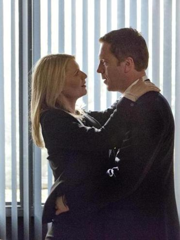 "Claire Danes and Damian Lewis in ""Homeland."""