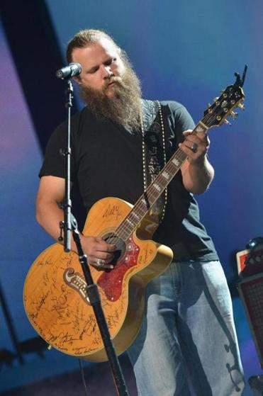 Jamey Johnson (pictured in Nashville in June)played for two hours at Royale.