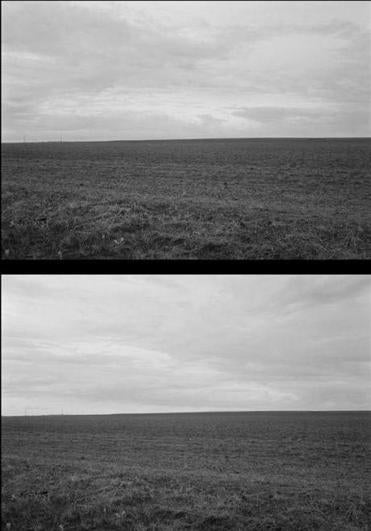 "Frank Gohlke's ""Unpacked, No. 1"" (top) and ""Ten Minutes in North Texas, No. 4"" (above)."