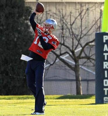 Tom Brady was back at practice Thursday.