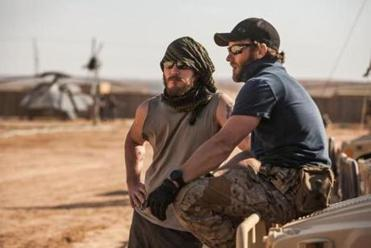 "Chris Pratt (left) and Joel Edgerton play Navy SEALs in ""Zero Dark Thirty."""