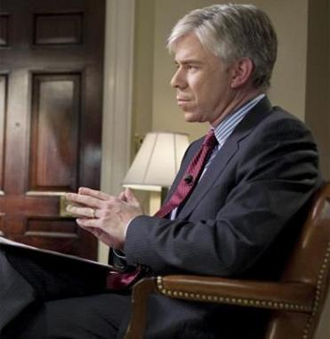 David Gregory held up the magazine as a prop for Sunday's segment on ''Meet the Press.''