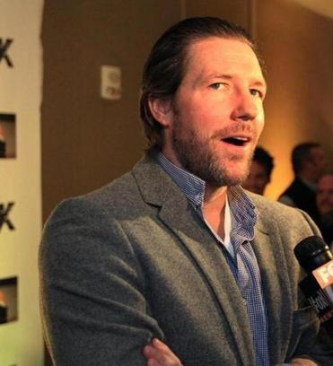 TALKING TURK: Actor and producer Edward Burns at a party in Boston announcing plans for Turk, a movie based on the life of Bruins great Derek Sanderson on January 9.