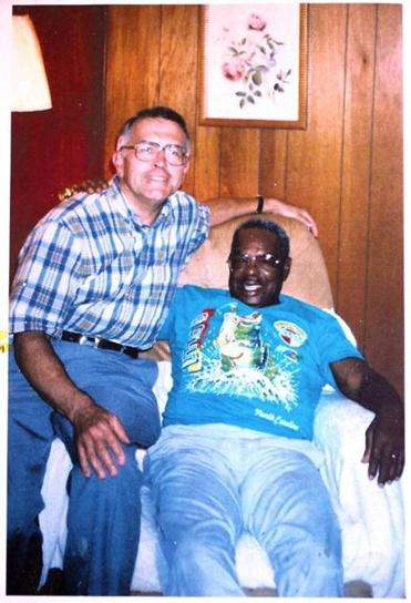 Retired Judge Gordon A. Martin, Jr. (cq) will address the Melrose Human Rights Commission on MLK Jr. Day. Reproduced in his book as a black and white photo, Martin poses in this 1989 image with T.F. Williams  in Palmers Crossing, Miss. Williams was a witness in the U.S. v. Theron Lynd case.