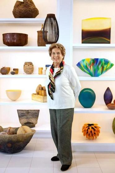 Daphne Farago and her late husband, Peter, have gifted a large amount of their contemporary glass and craft art collection to the Museum of Fine Arts.