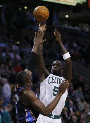 Kevin Garnett ended up with just 7 points on 2-of-11 shooting in Boston's 100-89 win over the Bobcats at TD Garden.