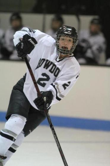 Stephanie Ludy of Bowdoin College scored a hat trick in a 7-2 win over Wesleyan.