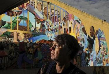 Artist David Fichter is happy some of the King school mural will be saved.