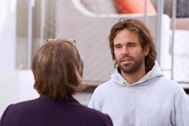 "A hairy David Walton in ""The Makeover."""