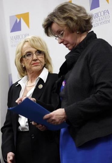 Jan Brewer already is facing opposition from her party.
