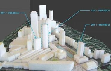 Plans for the towers at the Christian Science Plaza.
