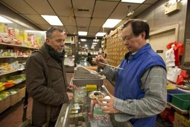 Patrick Soo at the herb shop Nam Bac Hong, another stop on the Chinatown tour.