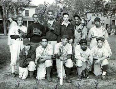 Kids growing up in the Ville enjoyed recreational opportunities their urban peers didn't have. Here, the West Medford Ramblers in 1947; Wally Kountze, back row, third from left, still livesin the neighborhood.