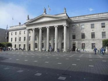 The General Post Office, where the Easter Rising began.