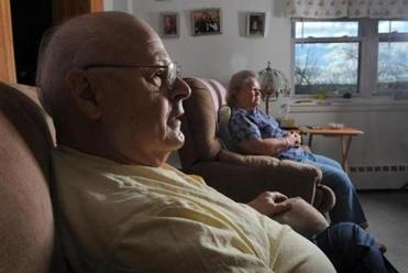 Louis and Katherine Bourgoin of Lewiston, Maine are a retired couple losing their Medicaid coverage in March.