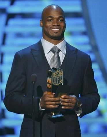 Adrian Peterson won the MVP award on Feb. 2.