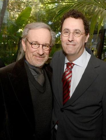 """Lincoln"" director Steven Spielberg (left) and writer Tony Kushner at the AFI Awards last month in Los Angeles."