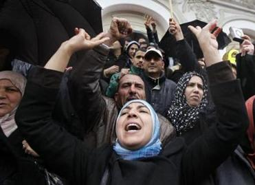 Supporters of the Ennahda party also protested Saturday, which was the third straight day of unrest in Tunisia.