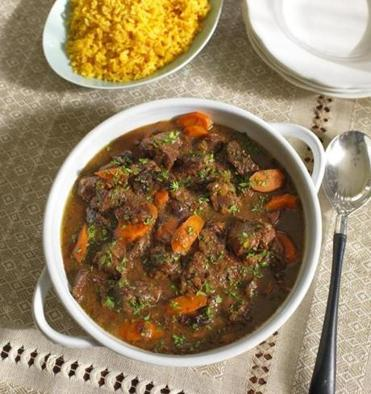 Serve Persian-Style Beef Stew With Prunes alongside rice.