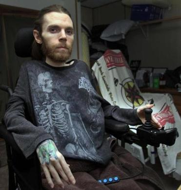 Clayton Holton says his use of opiate painkillers is greatly reduced when he uses marijuana. He suffers from muscular dystrophy and has been in a wheelchair since he was 10.