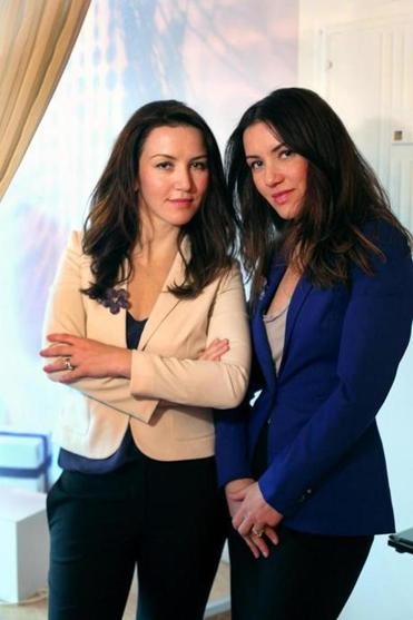 Rousanna Gevondian-Curvelo (left) and Susanna Nassar are partners in their mother Violet Mkhitaryan's business, including a skin boutique in Brookline.