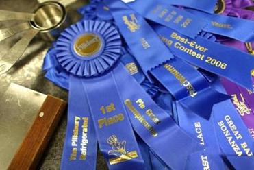 Some of JannaBee's blue ribbons.